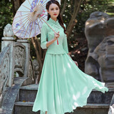 Cheongsam dress two-piece suit 2020 new girl Chinese style skirt Tang suit ethnic style young suit skirt