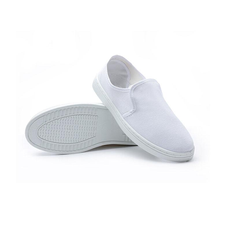 电子工厂防静电鞋子四孔鞋白色无尘车间鞋劳保工作鞋士透气工鞋