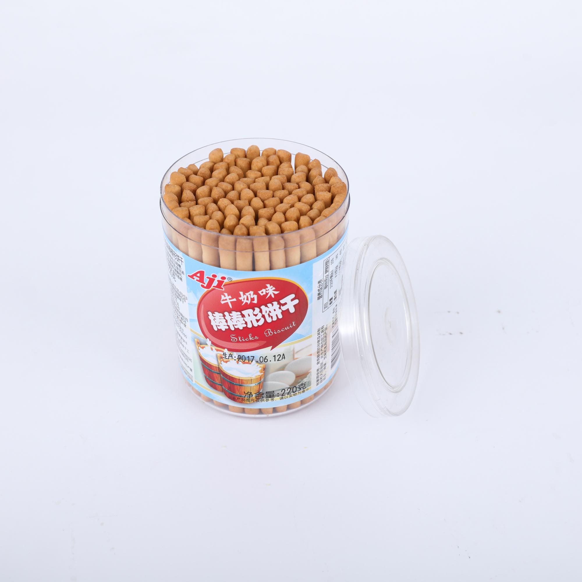 棒棒饼干起司味牛奶味手指饼儿童饼干磨牙饼干 Aji 罐包邮 3 220g