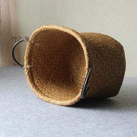 竹编制品纯手工家用竹筐创意家居装饰篮子手提篮水果收纳筐竹制品