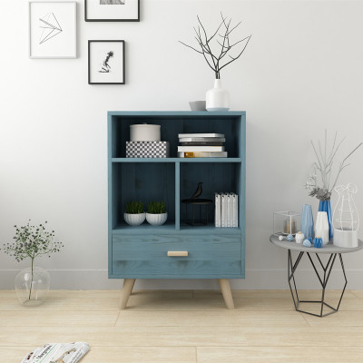 簡約書櫃柜子床頭櫃簡易收納柜子北歐實木多功能卧室置物櫃收納櫃