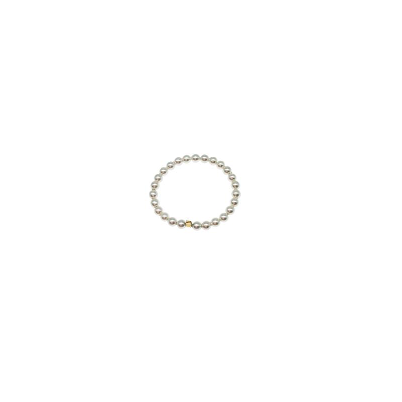 注金施家珍珠戒指女叠戴 手作迷你极细小珍珠美国进口  Edith 14k