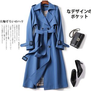 风衣女中长款2019春季新款韩版修身显瘦气质大衣长款过膝薄款外套
