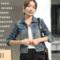 牛仔外套女春秋短款修身韩版新款显瘦学生长袖牛仔服上衣破洞大码