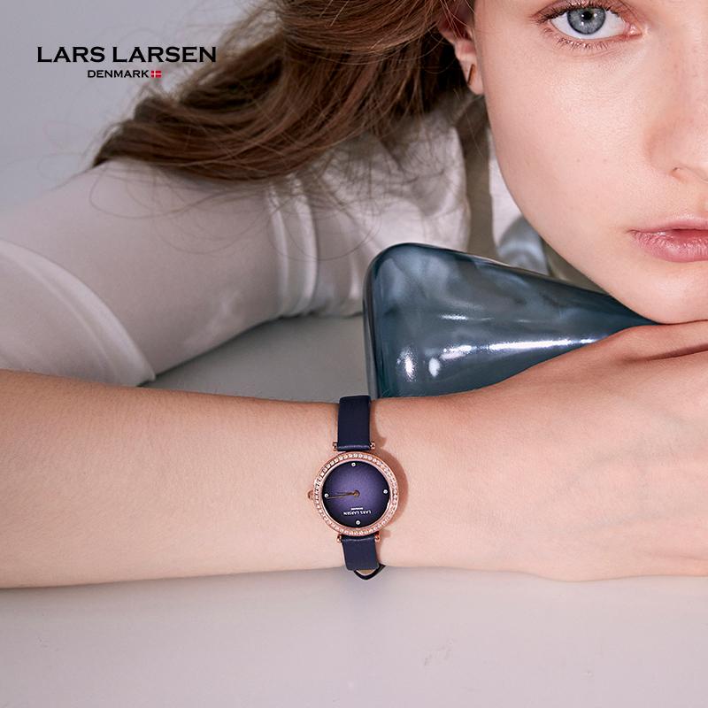 LARSLARSEN渐变小灰表 拉尔森北欧小众轻奢品牌简约气质手表女