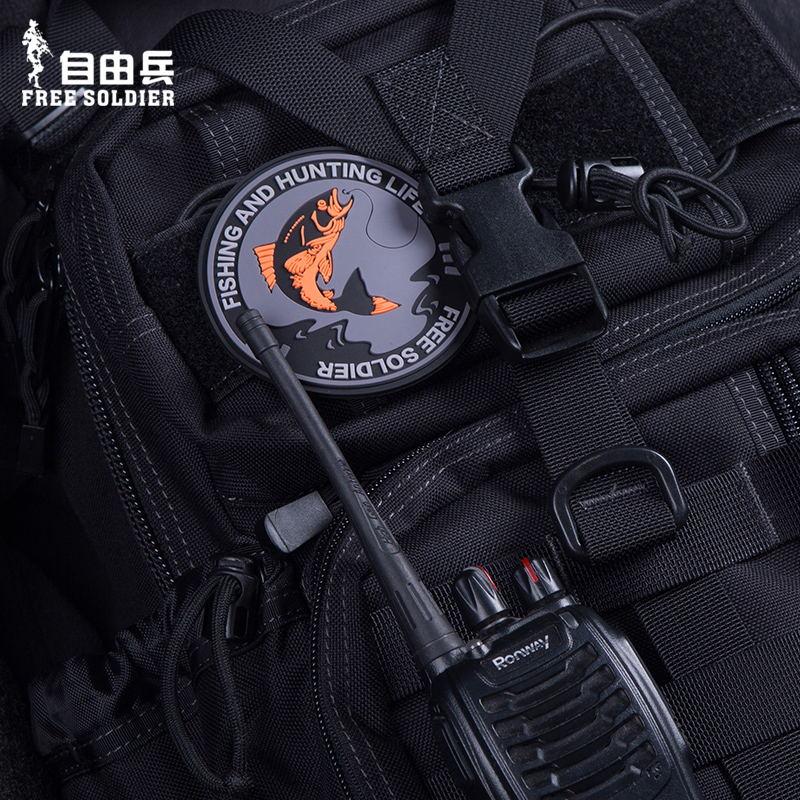 自由兵军迷魔术贴背包贴 PVC肩章橡胶臂章战术胸章 户外服饰配件