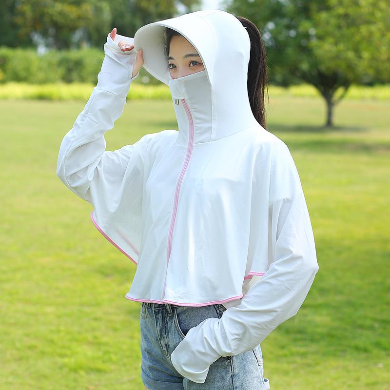 防晒衣女 新款夏防紫外线冰丝防晒衫短款长袖防晒服仙女薄外套  2020