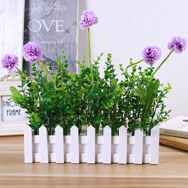 Alibaba & Buy 30cm long section of wooden fence flower pots overall ...