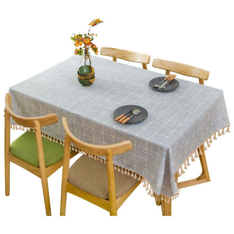 北欧风ins餐桌布艺现代简约茶几桌布棉麻小清新网红长方形台布正