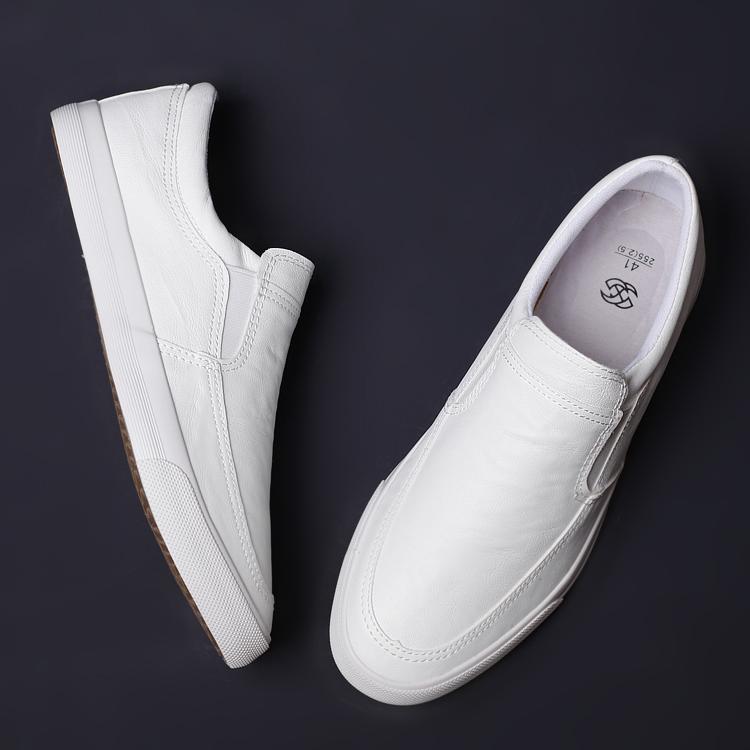 夏季新款男鞋一脚蹬懒人鞋潮流百搭男士休闲透气皮鞋开车鞋男 2021