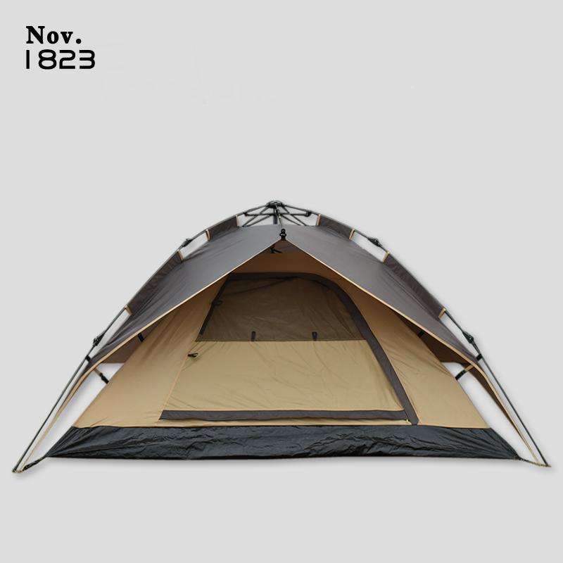 4 3 户外野营加厚防暴雨双人露营帐篷 全自动液压免搭速开折叠帐篷