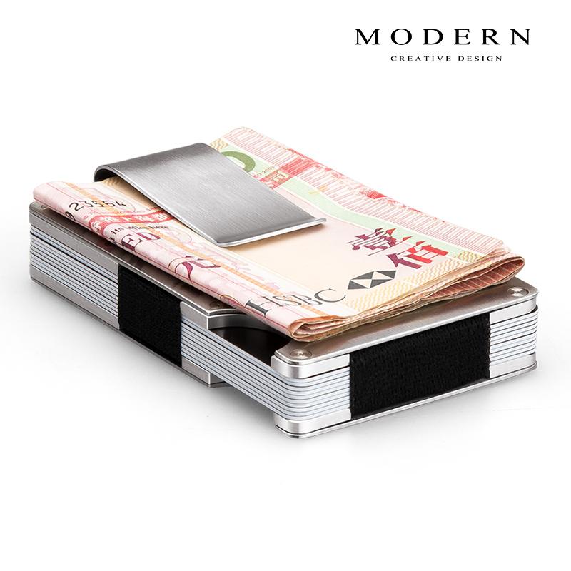 德国MODERN航空铝制钱夹 不锈钢卡夹钱夹 男士金属钱夹创意时尚潮