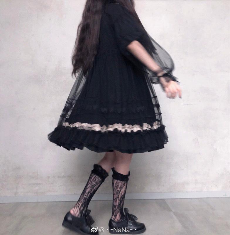 现货含小物清仓价人形玩偶Lolita短袖日常甜优雅连衣裙op
