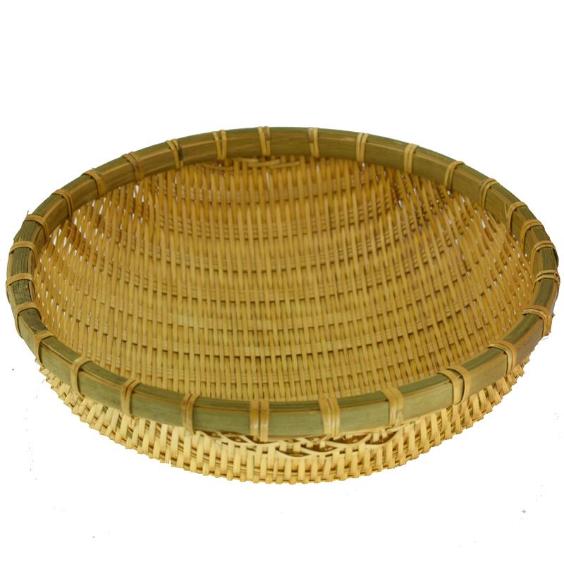 竹编簸筲箕馒头收纳筐制品篮子沥水淘米洗菜装果神器道具表演包邮