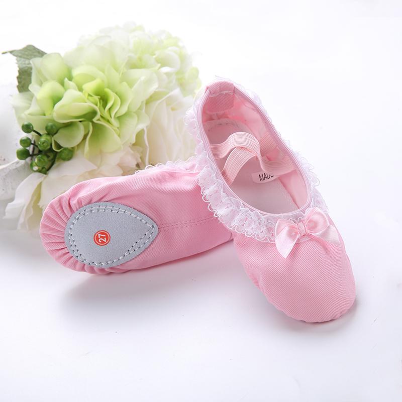 女童舞蹈鞋儿童软底跳舞鞋学生幼儿园练功鞋小孩子瑜伽宝宝猫爪鞋