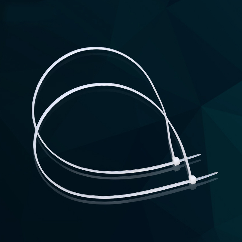 环保4*200mm固定塑料尼龙扎带 自锁式白黑捆线带 400条线束扎线带