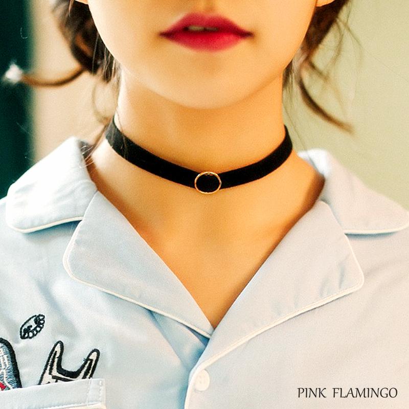 项圈女颈带酷 chocker 项链韩国简约锁骨链脖链 choker 圆环 新品