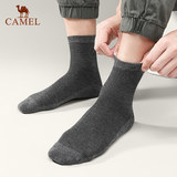 Camel socks men's tube thin section trend deodorant sweat-absorbent breathable socks men's boat socks short tube invisible socks stockings cotton