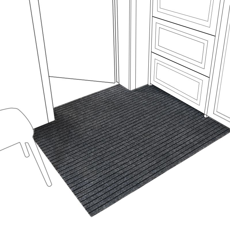 进门地垫厨房防水防油防滑脚垫子家用卫生间门口入户门垫吸水地毯 - 图0
