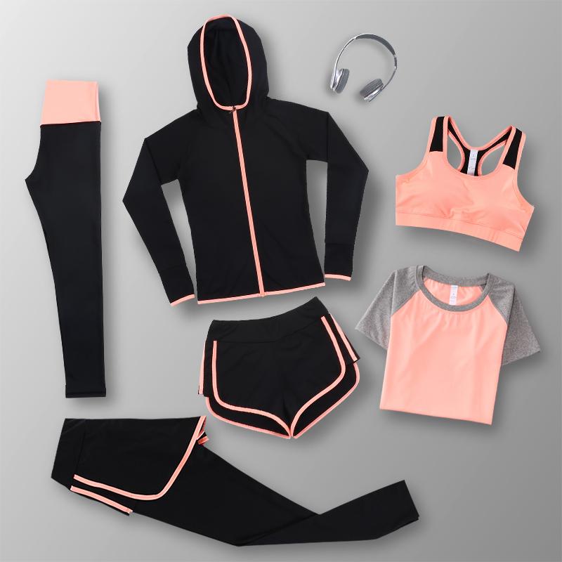 秋季新款瑜伽服宽松外套健身房训练跑步速干衣紧身长袖运动套装女