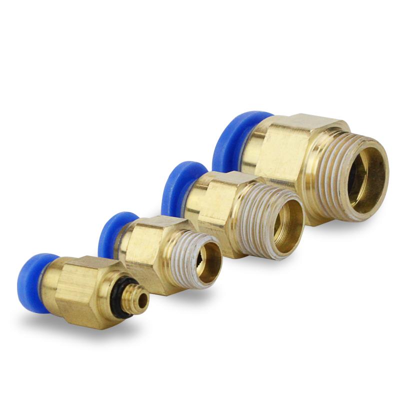气动铜快速接头PC8-02气管快插PC4-M5螺纹直通6-01/10-03/12-04