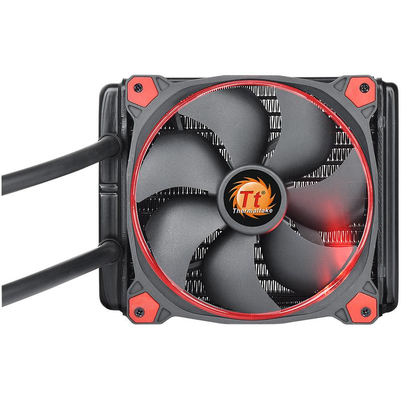 Tt枭龙120电脑台式机CPU散热器片一体式水冷排套装风扇静音薄排