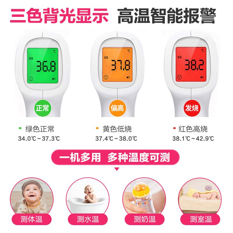 成人医用高精度测体温枪电子温度计额温人体额头探温家用现货顺丰