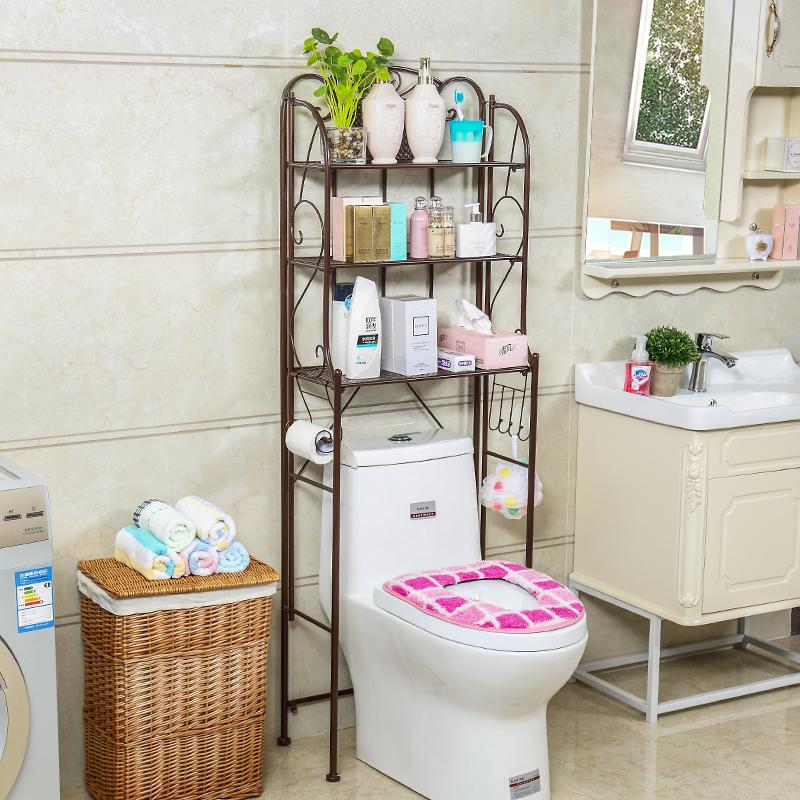 卫生间浴室置物架马桶置物架落地洗手间收纳洗衣机架子厕所脸盆架【图3】