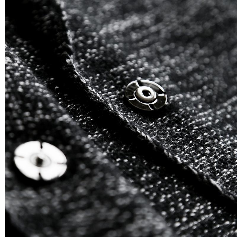 翻驳领夹花色调一粒扣中长款针织大衣外套女秋冬 大牌感 利落精炼