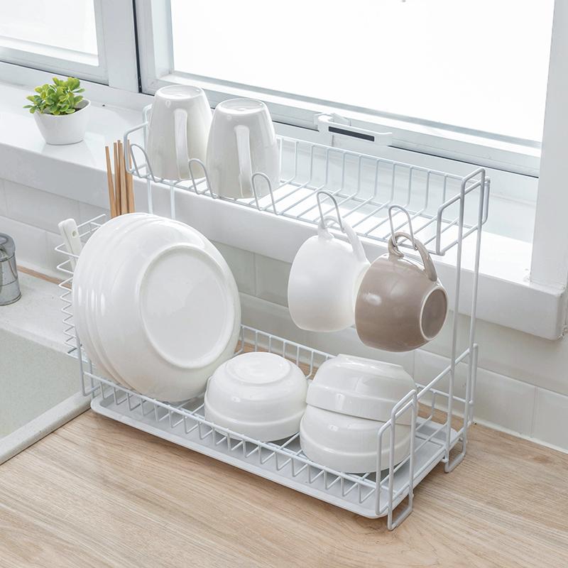 纳川创意厨房沥水架碗碟筷架水槽多层置物架整理收纳架晾碗滴水架