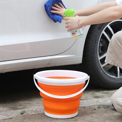 可折疊水桶家用洗車釣魚美術硅膠折疊桶便攜式旅行戶外大小伸縮桶