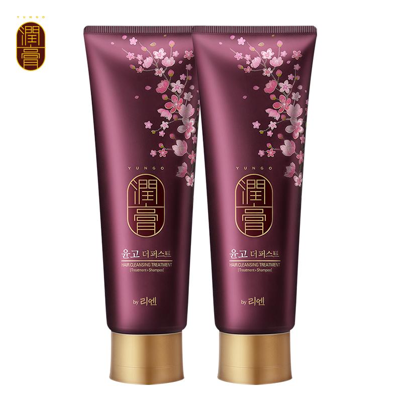 睿嫣润膏舒盈养护洗发水女士留香洗护二合一250ml2支韩国LG进口