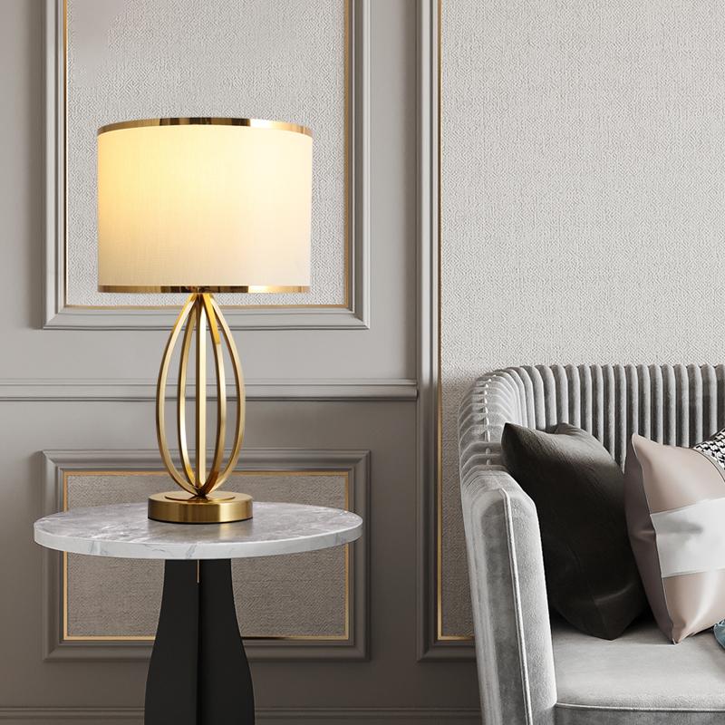 轻奢卧室床头台灯温馨婚房结婚长明灯欧式简约现代客厅书房样板间