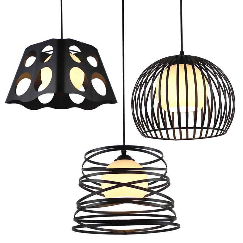 北欧现代简约酒吧台灯具餐厅吊灯三头钻石过道工业风个性创意灯饰