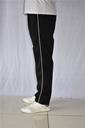 黑色校服裤白边运动裤小学生初中高中生男女校裤订制深蓝色校服裤 - 1