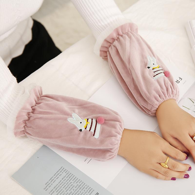 秋冬季韩版男女学生可爱护袖套长款成人办公工作短款套袖袖头袖筒
