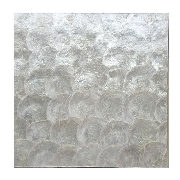定制 天然镜贝马赛克 金色银白色贝壳欧式现代奢华客厅电视背景墙