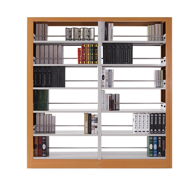 金经金属学校图书馆书架钢制图书架单面双面图书展示架家用资料架