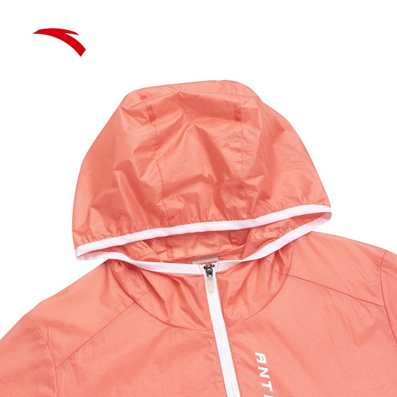 夏季官网正品透气轻薄上衣连帽单夹克女 2019 安踏运动风衣外套女