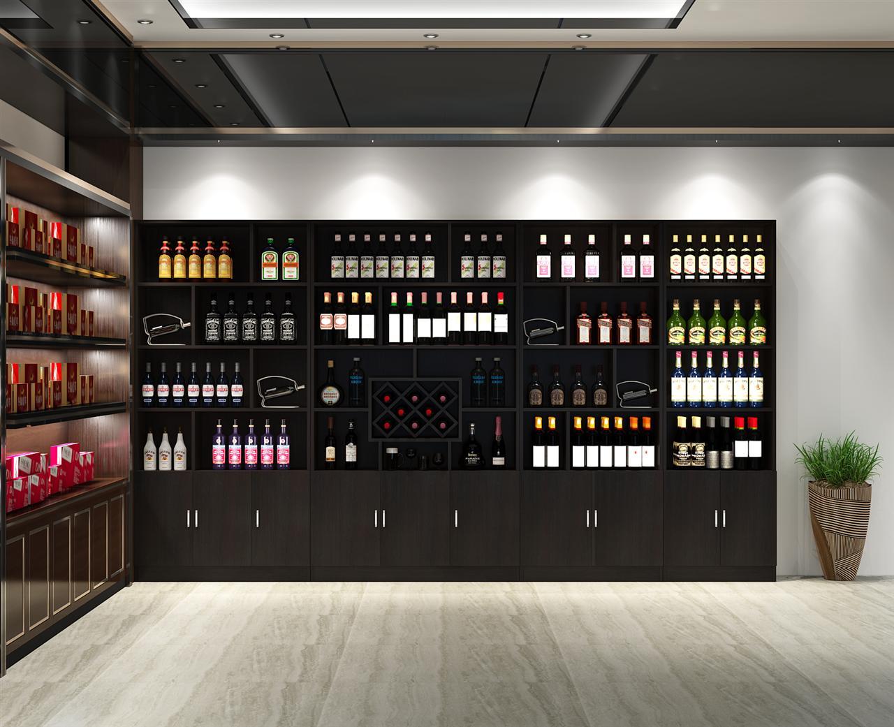 红酒柜展示柜酒柜展示架酒架茶叶展示柜超市陈列柜产品柜货柜货架