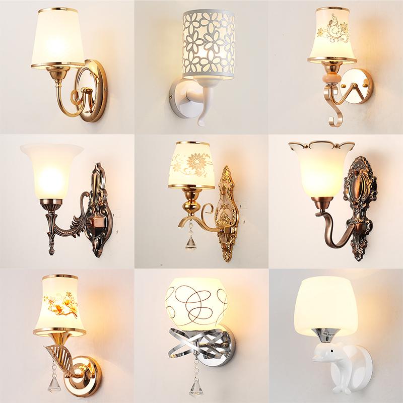 背景墙壁灯具 LED 壁灯床头灯卧室简约现代创意欧式美式客厅楼梯