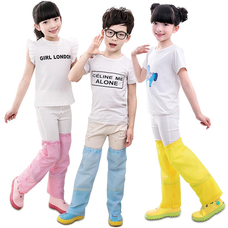 儿童雨鞋腿套雨天防打湿防水防脏雨靴男女童长筒过膝盖雨衣裤套