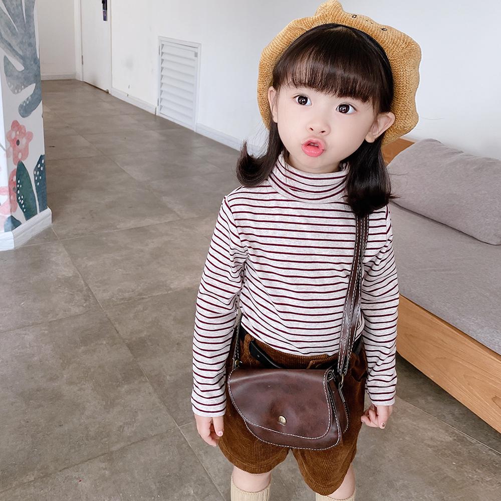 条纹高领加厚磨毛弹力打底衫 2020 女童秋装 你 给识货 值 chao