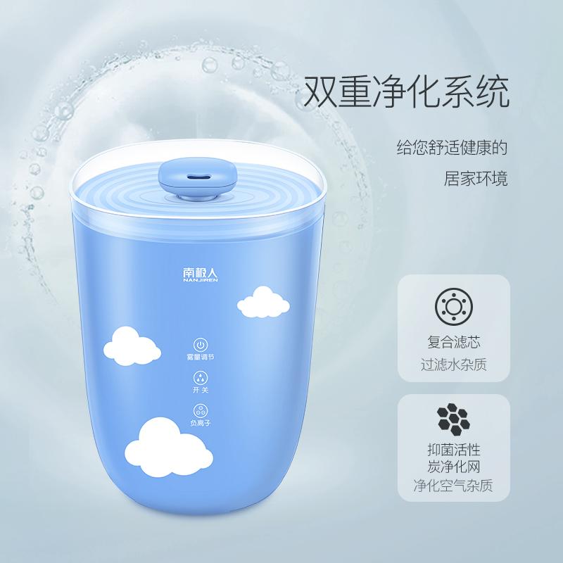 南极人加湿器家用静音卧室孕妇大容量空调空气净化小型迷你香薰机