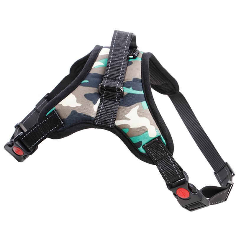 遛狗牵引绳背心式骨头款可伸缩胸背带