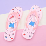 Parent-child children's flip-flops Xia Nu's new anti-skid cute Hello Kitty girl pinch beach sandals and slippers beach shoes