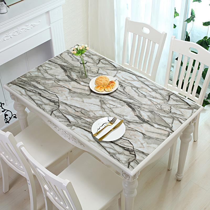 软玻璃塑料PVC桌布防水防烫防油免洗透明餐桌垫茶几台布厚水晶板