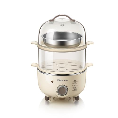 小熊蒸蛋器自动断电家用定时煮鸡蛋羹机神器多功能小型电蒸锅1人