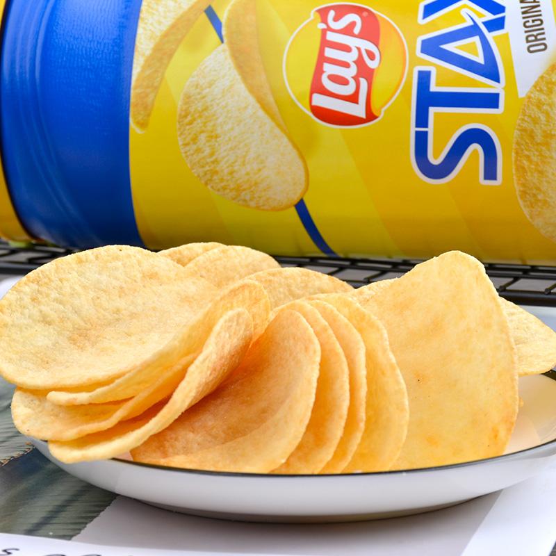 墨西哥进口:乐事Lays 无限原味薯片 163gx2桶