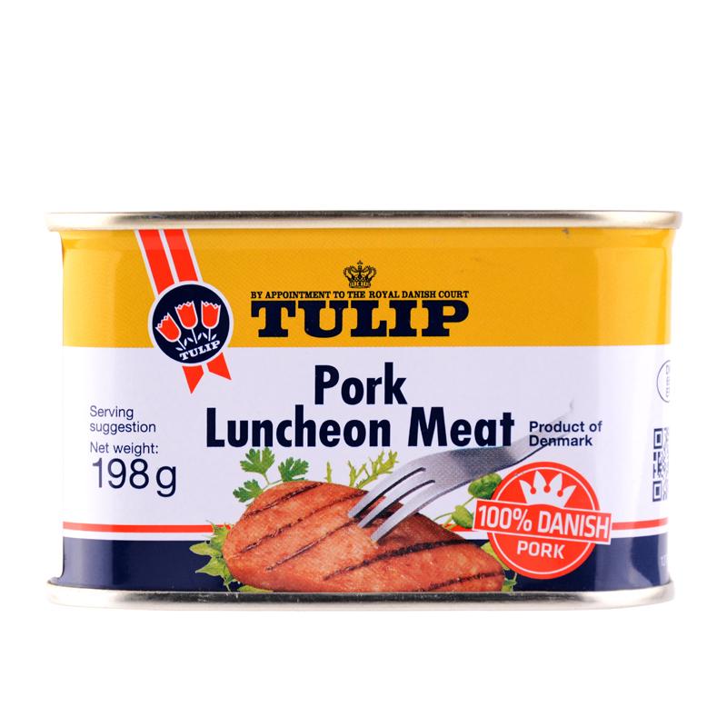 丹麦皇家认证 Tulip 郁金香 经典午餐肉罐头 198g*4罐